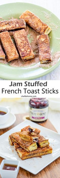 Fruit Jam Stuffed French Toast Bread Sticks for easy snacking | chefdehome.com