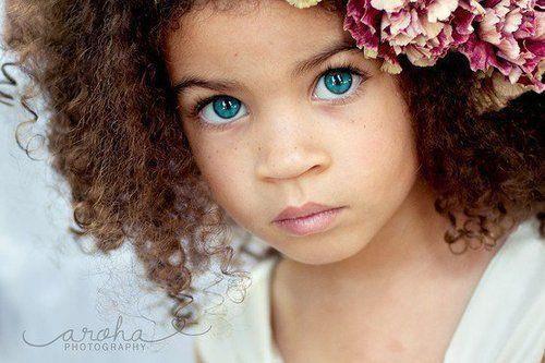 Mixed Newborn Baby Girls With Blue Eyes Biracial child- beautifulbaby