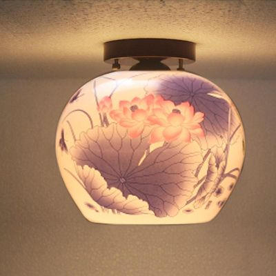 Antique ceiling lights Beautiful Chandelier Jingdezhen Egg shell Porcelain Light…