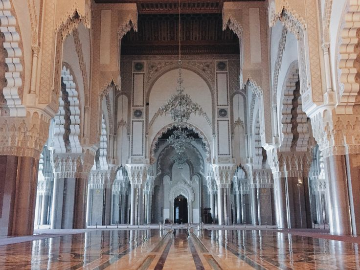 Amazing interior of Hassan II Mosque, Casablanca, Morocco
