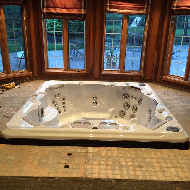 69 best Hot Tub Install Ideas images on Pinterest | House porch ...