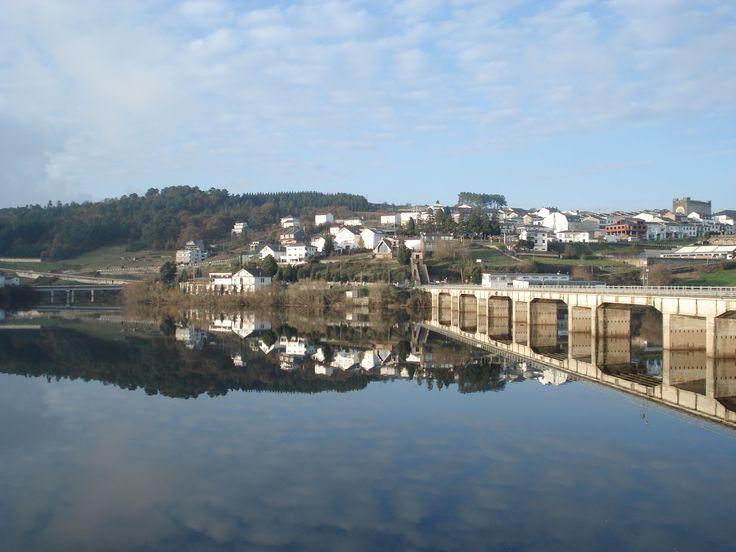 Vista de Portomarín, Lugo, Camino de Santiago