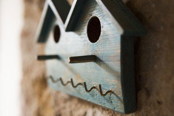 DOUBLE HOME appendino – Home decor -appendichiavi – appendi canovaccio – appendi presine – appendi collane – legno antico – ganci – a parete
