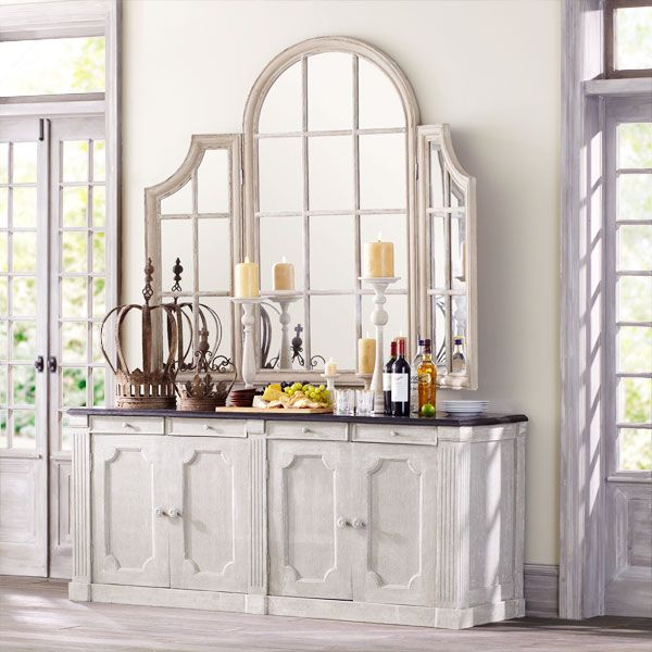 Dutch Sideboard $1,599.00Dining Rooms, Crowns Decor, Consoles Tables, Windows Mirrors, Antiques Arches, Dutch Sideboard, Console Tables, Formal Dining Room, Arches Windows