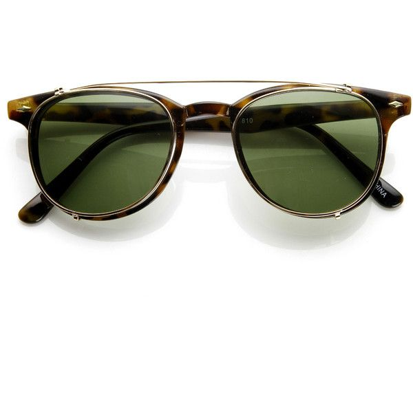Dapper Vintage Inspired Indie Clear Lens Wayfarer Clip On Sunglasses 9 (£7.75) ❤ liked on Polyvore featuring accessories, eyewear, sunglasses, glasses, lunettes, mirrored wayfarer sunglasses, clear rimmed glasses, mirror sunglasses, clear lens sunglasses and clear sunglasses
