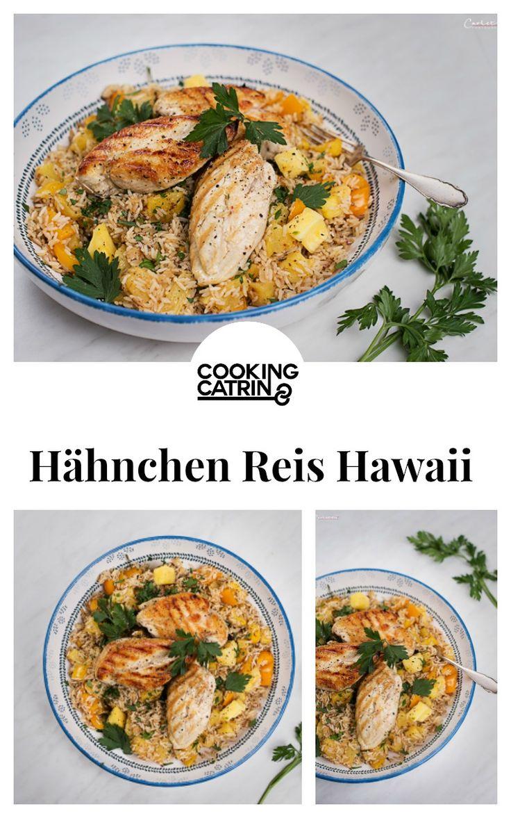 Hähnchen Reis Hawaii, hawaiianischer Reis, Hawaii Reis, Hawaii Hähnchen, Lunch, Abendessen, Mittagessen, Familienreept, Kinderrezept, kindertauglich, dinner recipe, lunch recipe, family recipe, children recipe, rice hawaii, chicken hawaii, chicken rice bowl...http://www.cookingcatrin.at/hawaianischer-reis-mit-huehnerfilets/