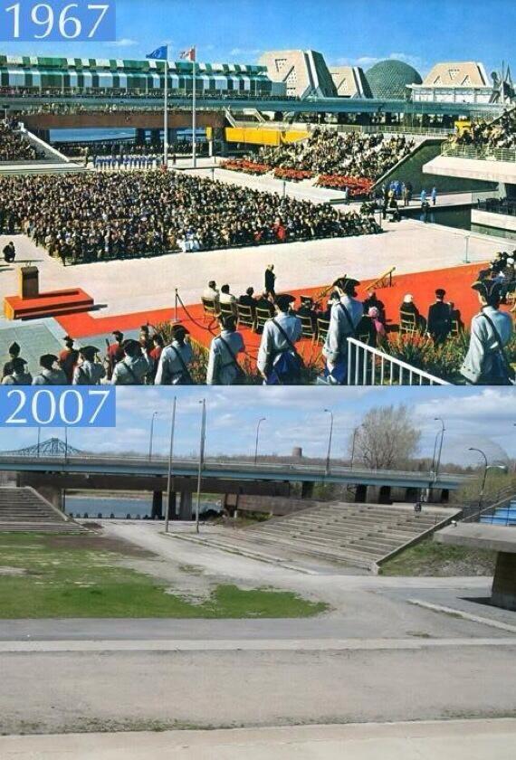 Expo 67 vs 2007… D'hier à aujourd'hui… triste contraste... #expo67 #montreal