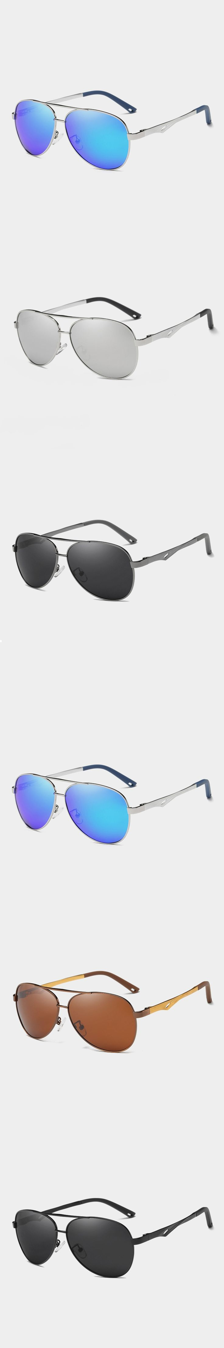 2018 OKULARY UV400 Pilot Yurt Sun Glasses Men Polarized Sunglasses Brand Logo Design Driving Glasses Goggles Oculos de sol 8532