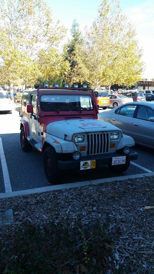 Jurassic Park themed Jeep YJ at a convention in San Jose California 2015 #carspotting #cars #car #carporn #supercar #carspotter #supercars