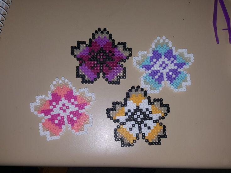 Perler bead flowers!