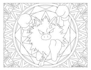 Primeape Pokemon 057 Kids ColoringColoring BooksColoring PagesColouringPokemon