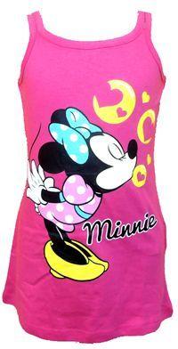Nové - Tmavorůžové letní šaty s Minnie zn. Disney