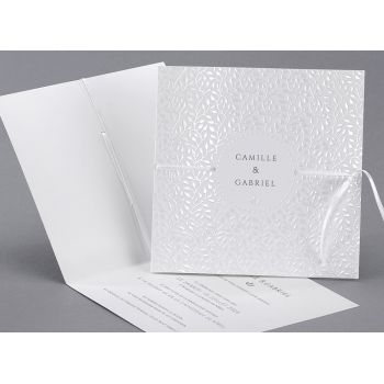 """Faire-part mariage """"Pearly"""", Editions Créatives EC-M10-003"""
