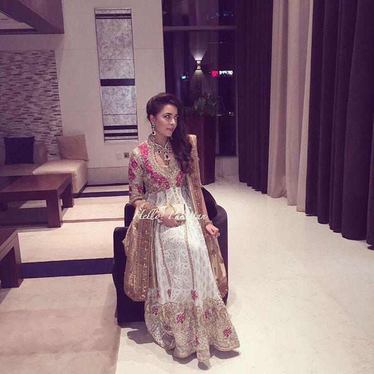 """Hello Pakistan Spots Maliha Aziz wearing FarahTalibAziz at Asher Schôn and Shahbano Munirs wedding tonight in #dubai ✨ #ashbano #farahtalibaziz #hellopakistan"""