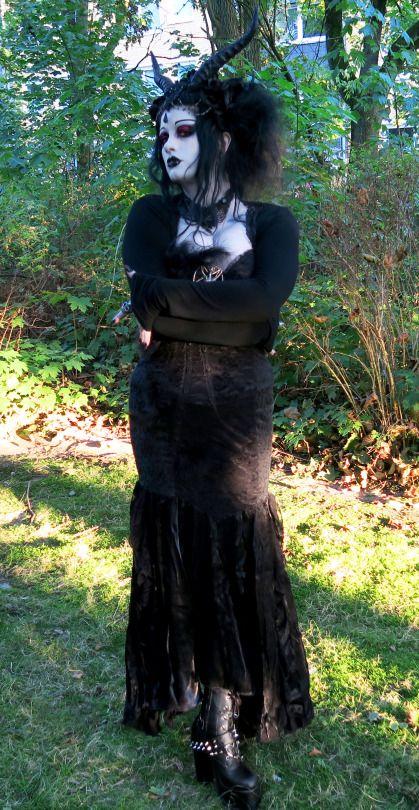 It's Black Friday | goth + demon horns; dress by Punkrave