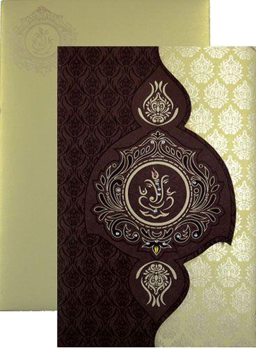 Gold Brown Designer Card