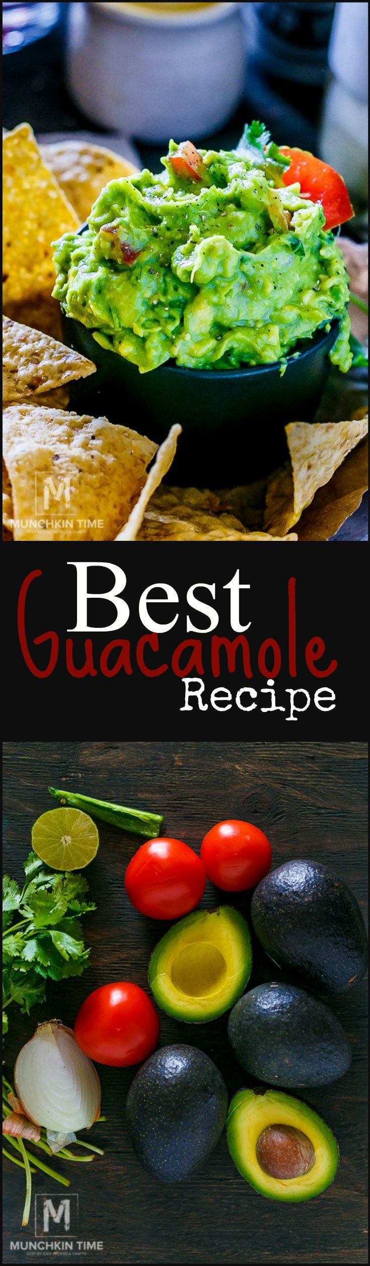 Best Guacamole Recipe Simple - It is made of fresh ingredients like ripe jumbo size avocados, ripe tomatoes on the vine, fresh cilantro, lime juice, crunchy onion and spicy jalapeño. Combine these fresh and nourishing ingredients to create an amazing Mexican appetizer Guacamole.