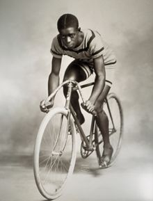 Marshall Taylor.  I actually learned something really interesting and new (to me) from a silly Pinterest/Tumblr poster today.  That in itself is worth making a note of.: Bicycles Design, Graphics Art, Africans American, Cycling, Graphics Design, Black Power, World Records, Major Taylors, Black History