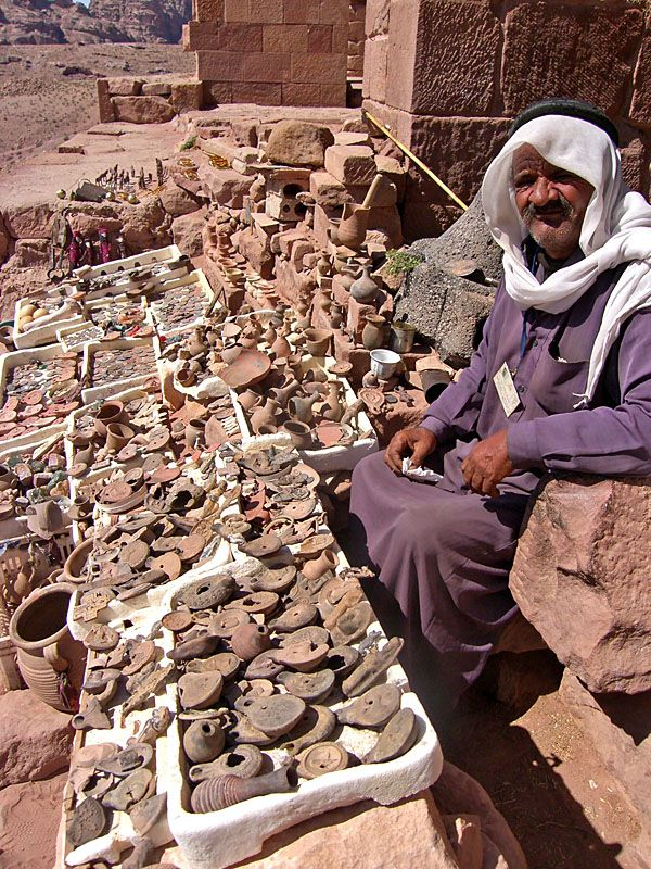 Old artifacts seller - Petra, Aqaba by Ricardo Lopes via TrekEarth Should be illegal unless imitation/fake artifacts