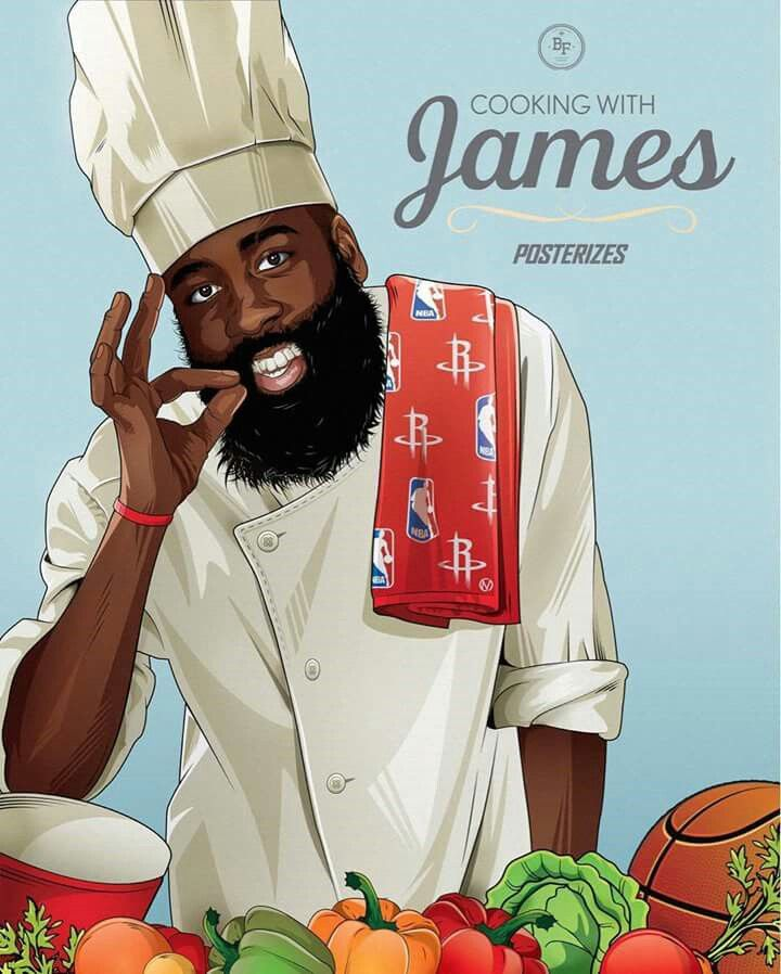 James Harden has now recorded his 6th 40-point triple-double this season, the most in a single season in NBA history.  COOKING UP AN MVP!