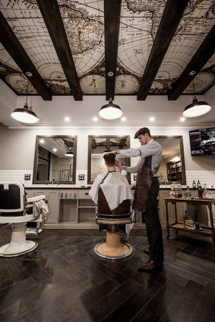 Design Portfolio Interior Design Of Benicky Sons Traditional Barber