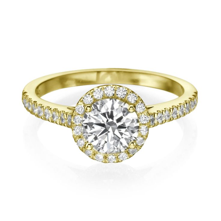 Diamantring - 1.00 Karat Diamanten F/VS2 - 585/14K Gelbgold für nur 1699.00   #diamantring #weissgold #gelbgold #weisse_diamanten #verlobung #juwelier #abt #dortmund #karatEuro