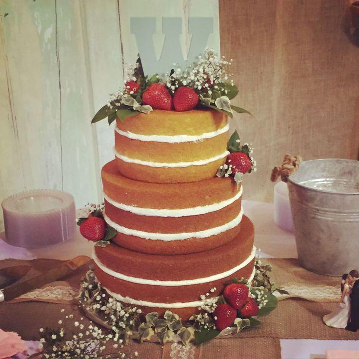 shabby chic bridal shower cakes%0A Naked Wedding Cake Naked Wedding Cake The bride wanted a rustic  shabby  chic wedding