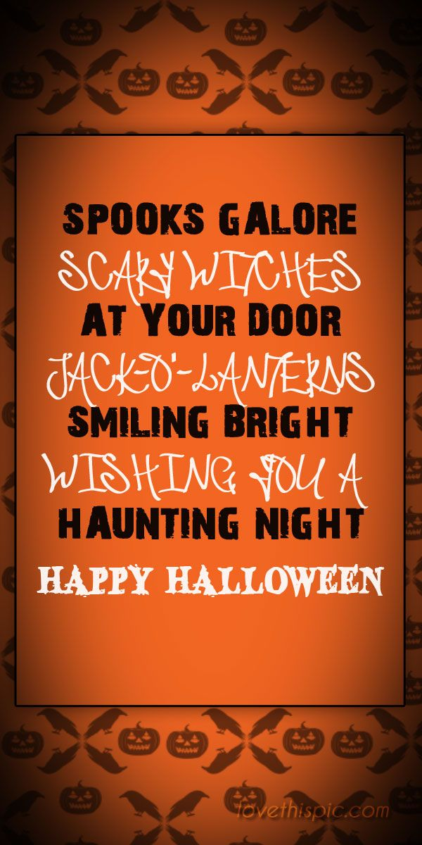 spooks galore quotes scary spooky creepy halloween pinterest pinterest quotes halloween quotes - Scary Halloween Quotes And Sayings