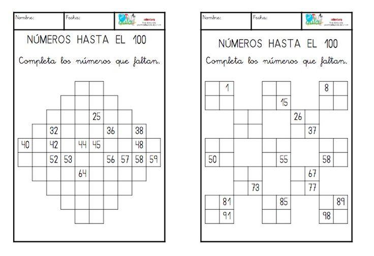 Os presento dos nuevas actividades en las que el alumno tendrá que conocer muy bien la numeración hasta el 100 para poder resolver el problema
