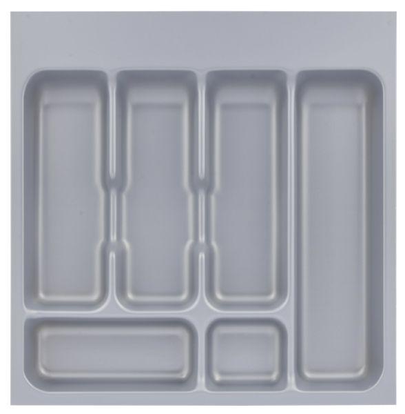 Metallic cutlery drawer insert
