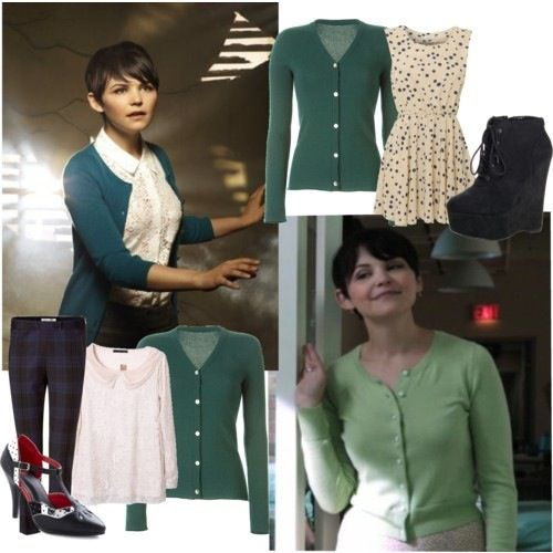 Ginnifer Goodwin as Mary Margaret in Once Upon a Time >> perfect style