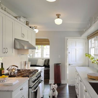 Benjamin moore moonshine on walls kitchens pinterest for Traditional galley kitchen designs