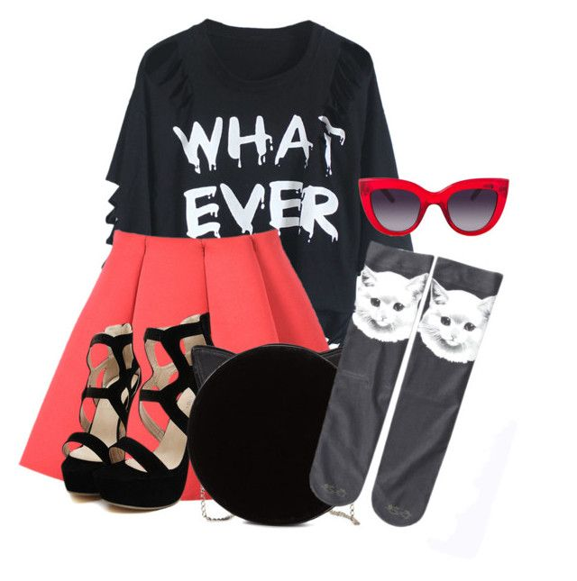 """cat set"" by jazminonly on Polyvore"