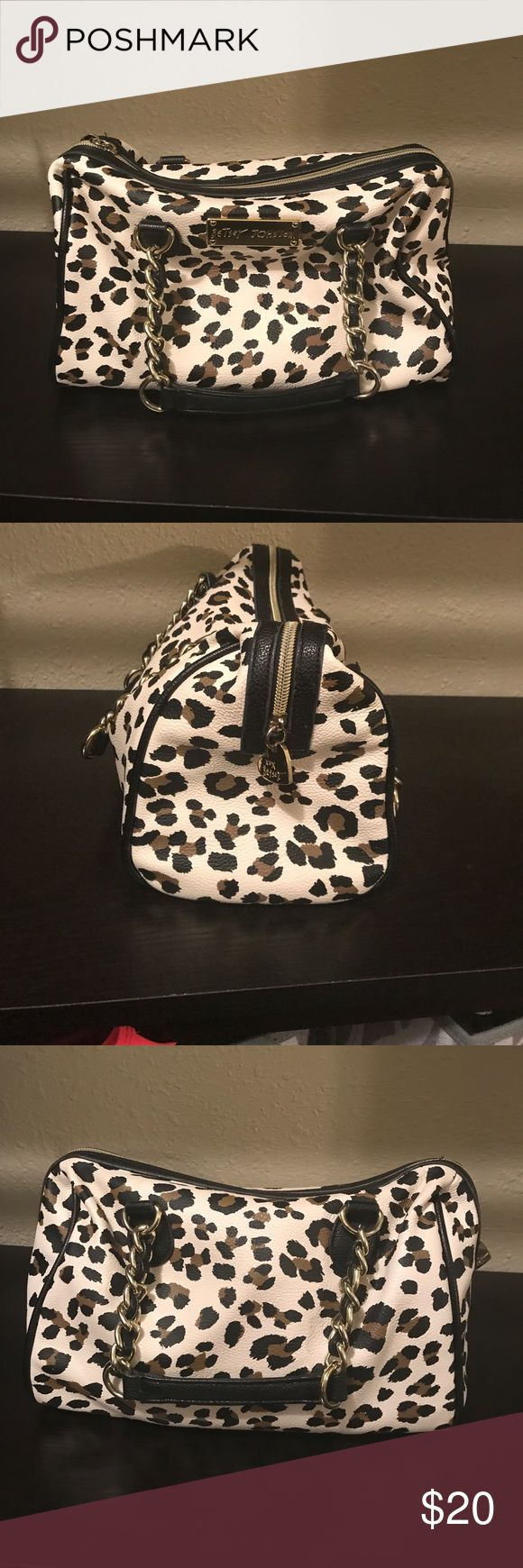 Betsey Johnson leopard purse Super cute! About 13 inches long, 7 inches tall. Betsey Johnson Bags Mini Bags