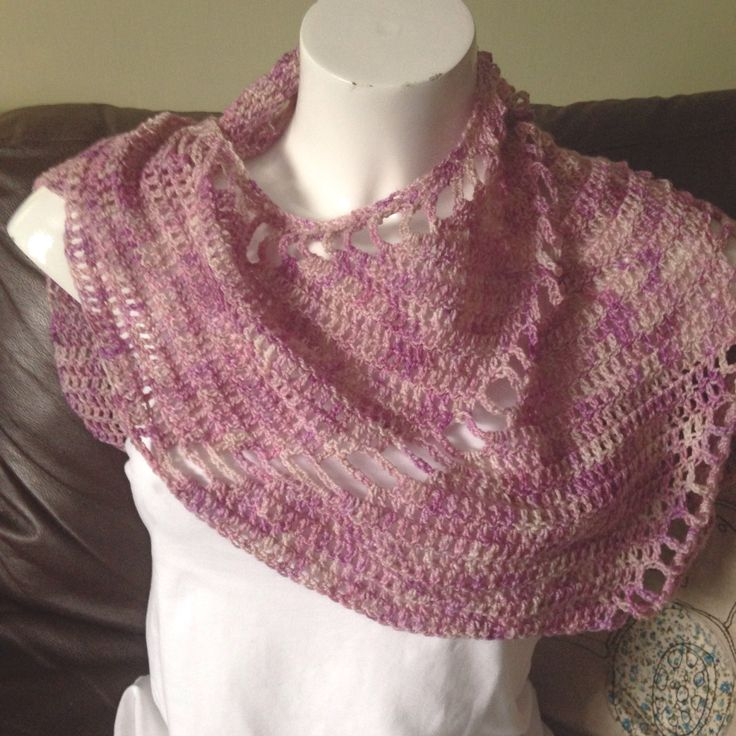 Windmill shawl made with hand dyed yarn