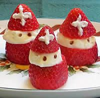 Strawberry St. Nicholas--made with cheesecake crème that holds its shape!