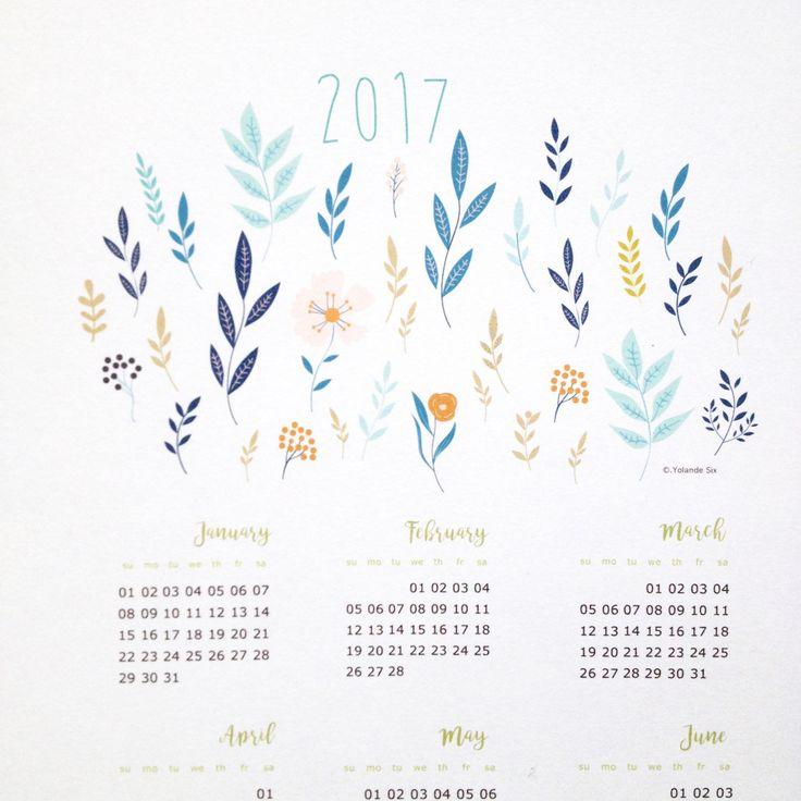 Calendar Poster Size : Calendrier mural pour la