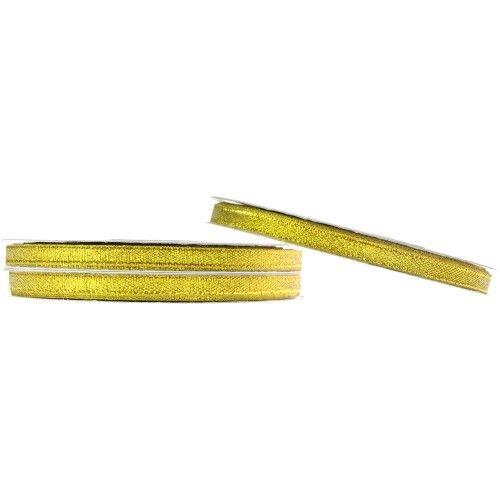 Wstążka brokatowa 6 mm 32 m złota