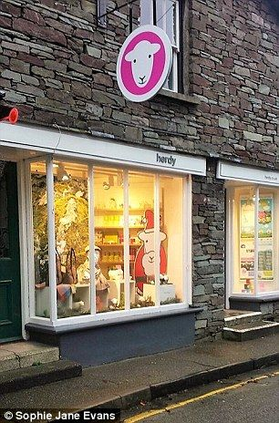 The Herdy Shop, inspired by the Lake District's Herdwick sheep, offers a selection of colourful products