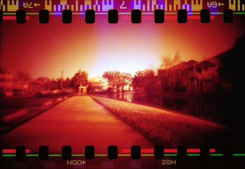 """""""A digital camera encourages you to take as many photographs as possible, but a pinhole camera makes you focus on just one or a few pictures. The camera has no viewfinder and it needs longer exposure times, from several seconds to hours."""""""