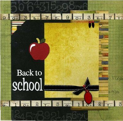 school picture scrapbook layout   School scrapbooking layouts / Back To School - Scrapbook Page