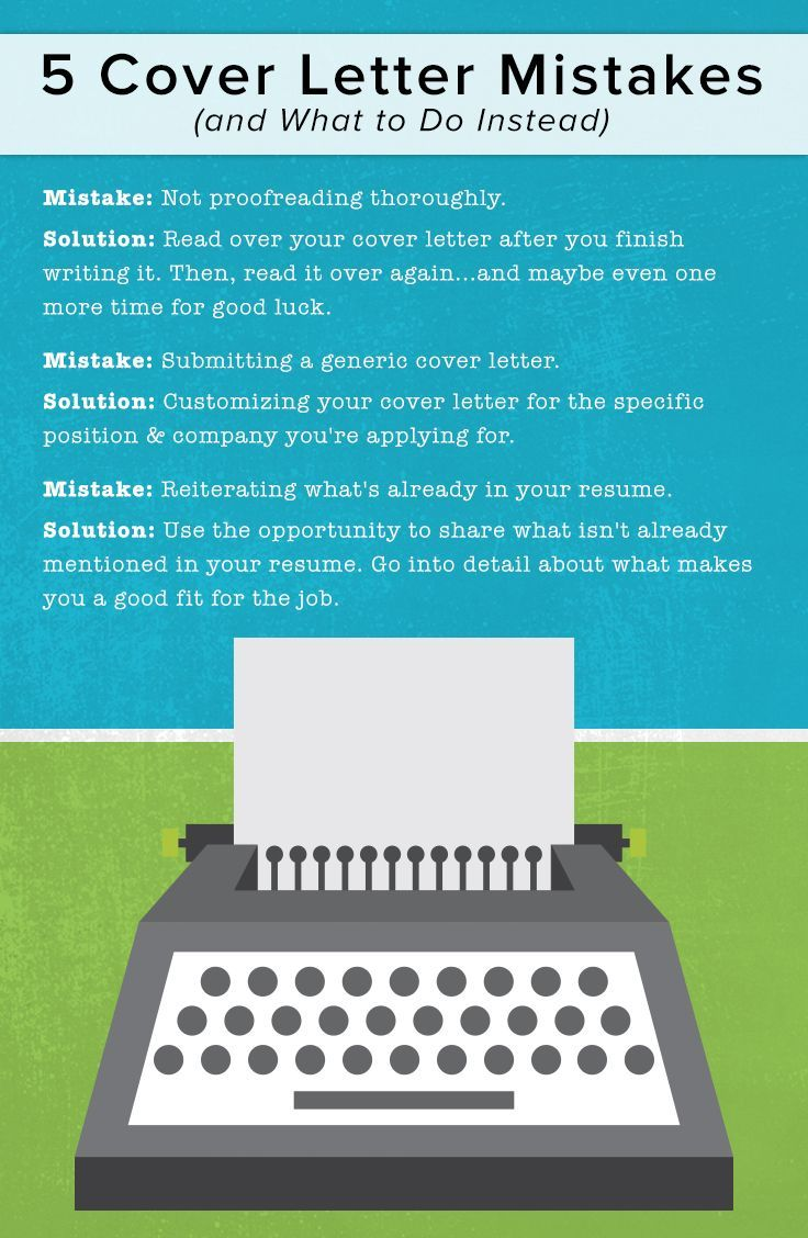 5 Cover Letter Mistakes (and What To Do Instead) | Cover Letters Tips