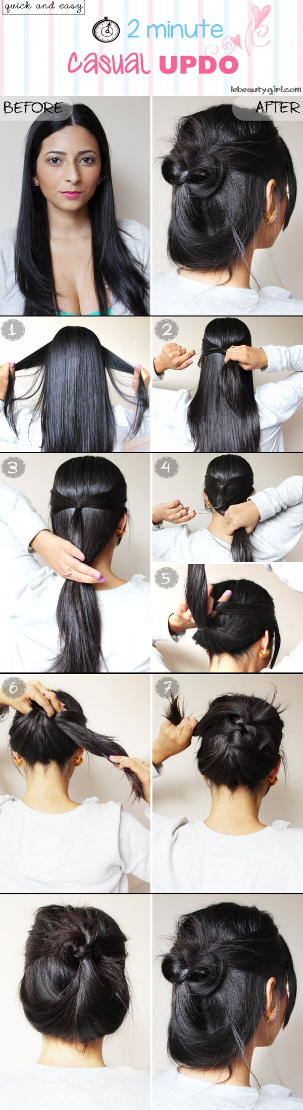 110 best Hairstyles images on Pinterest | Coiffure facile, Cute ...
