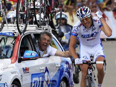 Thibaut Pinot • Marc Madiot • Stage 8 win • Tour de France 2012