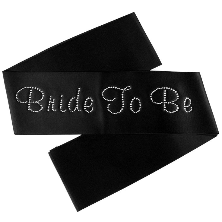 Bride To Be Sash with Crystal Text - 7 colour options available - $13.95 See more at http://myhensparty.com.au/