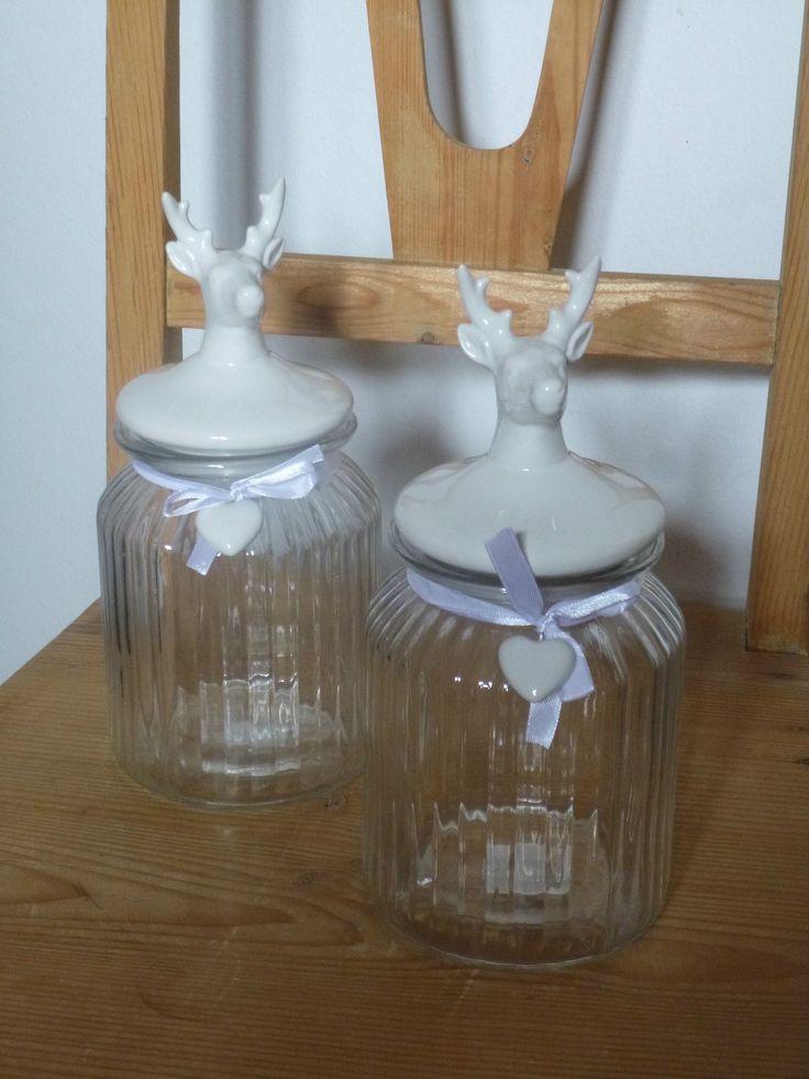 Bonboniere Hirsch Vorratsdose Glas Dose Dekoration Porzellan Küche Aufbewahrung | eBay