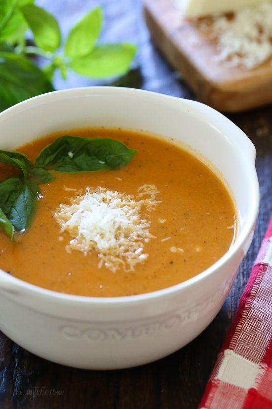 Instant Pot Tomato Basil Soup | Skinnytaste