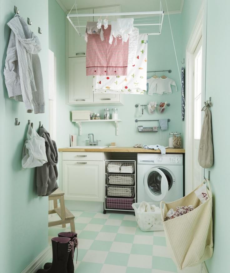IKEA Banyo - Küçük metrekarelere büyük çözümler: Arrows Keys, Organizing, Bathroom Idea, Laundry Rooms, Gospodarcz Spiżarnia Pralnia, Ikea Laundry, Buena Idea, Ikea Aranżacj, Boiler Rooms