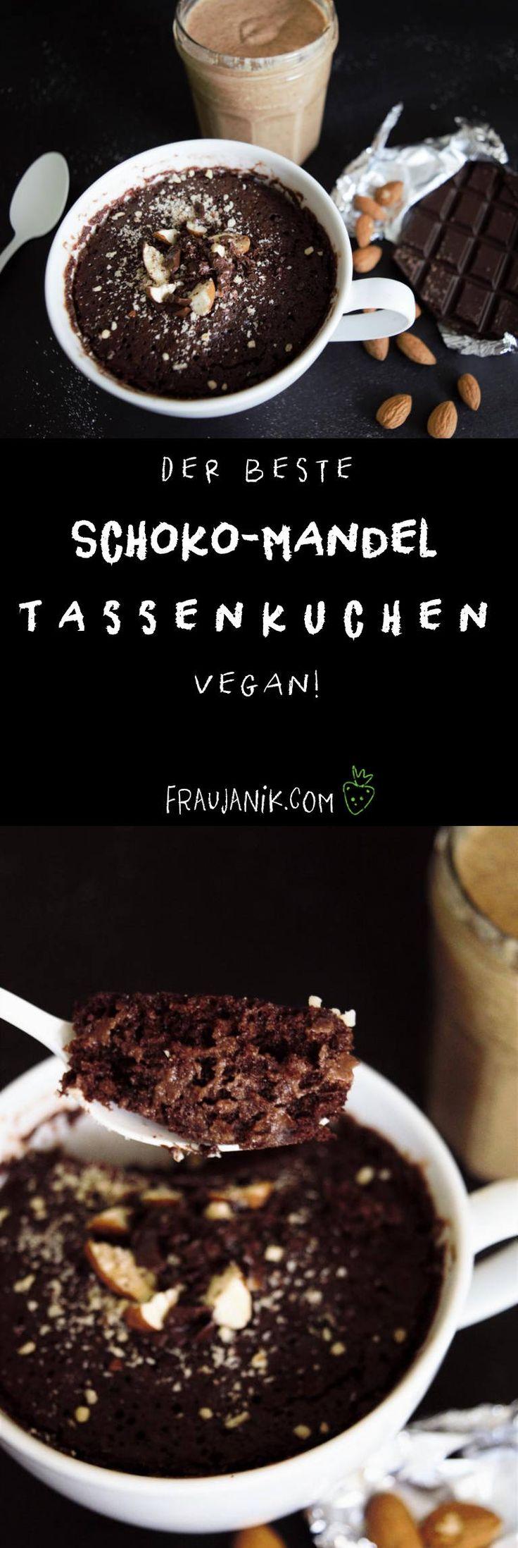 Der beste Schoko Tassenkuchen aus der Mikrowelle | vegan- Mug Cake ohne Haushaltszucker, unglaublich schokoladig & mit Crunch...