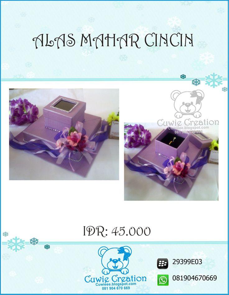Kotak Mahar Cincin cuwie creation  instagram @cuwiecreation